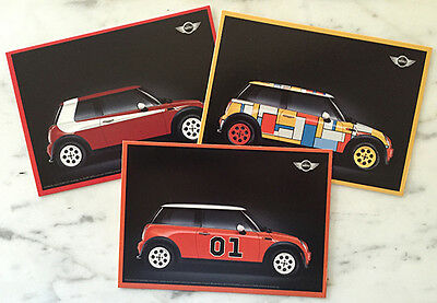 REDUCED 3 Mini Unused Postcards Starsky Hutch General Lee Dukes of Hazzard