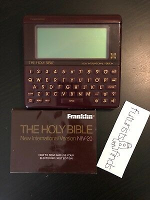 Franklin Electronic Holy Bible New International Version NIV-20 Good Condition