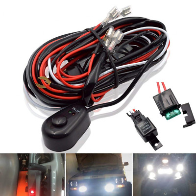 LED Light Bar Relay Wiring Harness Controller Cable Fuse Waterproof 12V 40Amp