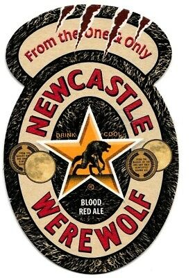 HALLOWEEN Newcastle WereWolf Blood Red Ale Beer Mat Coaster