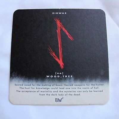 BLAVOD Black Vodka Blair Witch 2 October 27 2000  4 inch Beer Mat Coaster