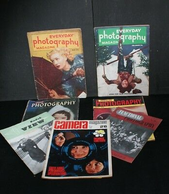 Seven Old Issues of Photography Magazines - Covering Years 1938 to 1966