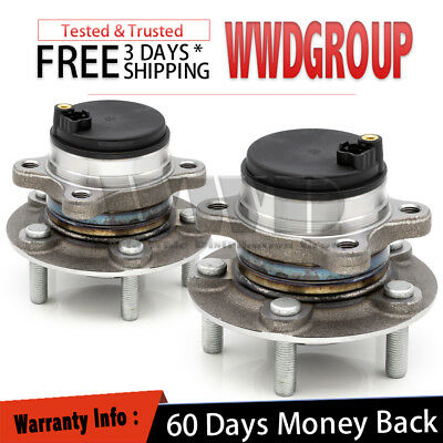2x 512497 Rear Wheel Hub Bearing L+R Pair Assembly For 13-2017 LINCOLN MKZ [FWD]