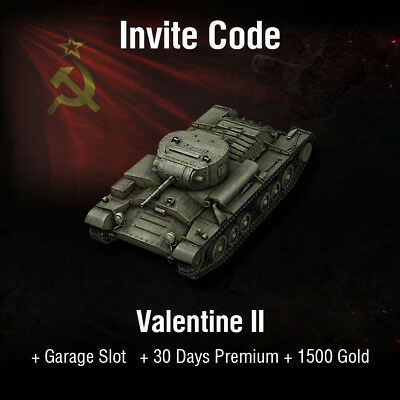 World of Tanks | WoT | Invite Code | Valentine II + 1500 Gold | PC | EU