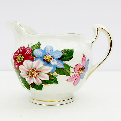 Vintage Royal Vale Bone China Floral Milk Jug