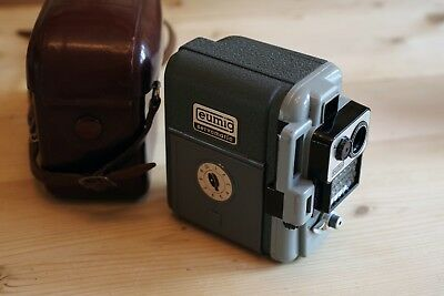 Eumig Servomatic vintage cine camera with leather case