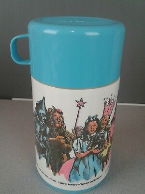 The Wizard Of Oz vintage plastic 8 oz. thermos in box 1989 Turner Entertainment
