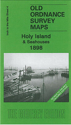 Old One Inch Map Holy Island Seahouses Bamburgh Wooler Chillingham 1898