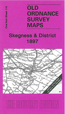 Old One Inch Map Skegness Ingoldmells Wainfleet Ulceby Winthorpe 1897