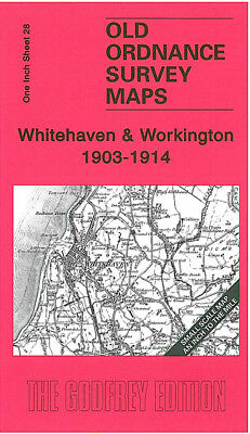 Old One Inch Map Whitehaven Workington St Bees Cleator Egremont 1903