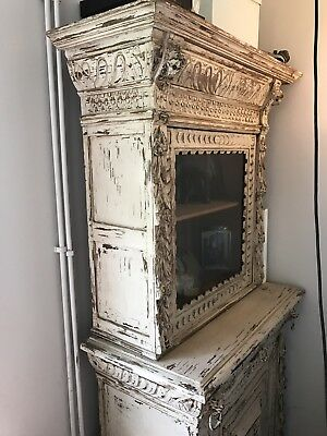 Vintage French Painted Shabby Chic Bookcase
