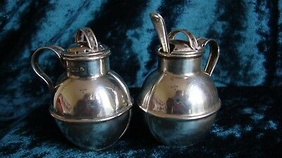 Silver Guernsey Milk jug style condiment set 1902 William Griffiths & Sons