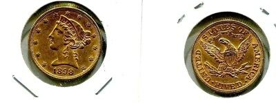 1898 P $5 LIBERTY HEAD GOLD COIN High Grade Pristine Condition Must See!