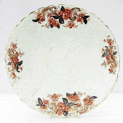 Vintage Antique Bone China Imari Style Deco Cake Plate