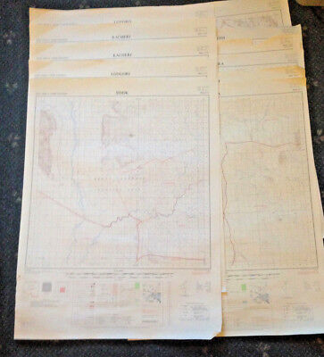 Lot Of 11 Vintage Maps -  Uganda -  East Africa