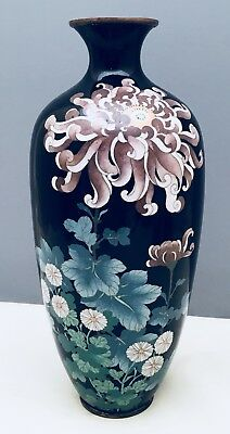 Beautiful Japanese Meiji Silver Wire-Wireless Cloisonne Vase