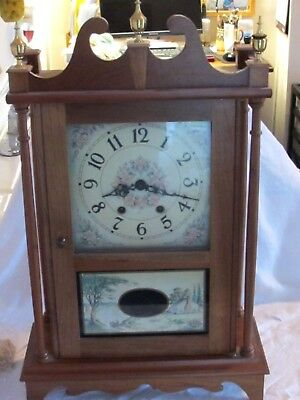Wisconsin Clock Company Wind Up Mantle Clock From 1981 Works Great. Key Included