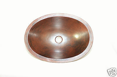 "15""X12""X 6"" Oval Sink Undermount 100 % Copper Hand Made"