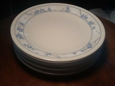 """Corelle First Of Spring 6 3/4"""" Bread Dessert Plates White Blue Flowers 7 Avail"""