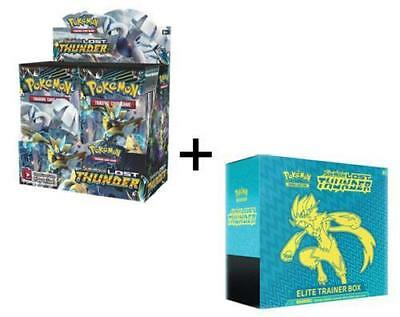 Pokemon Lost Thunder Booster Box + Elite Trainer Sun & Moon English