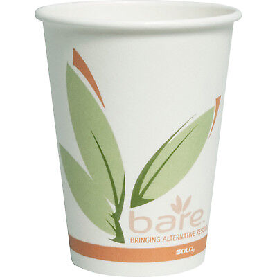SOLO Cup Company Bare by Solo Eco-Forward Recycled Content PCF Hot Cups, Paper,