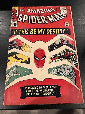 The Amazing Spider-Man #31 Fn 1St Appearance Of Gwen Stacy Marvel Comic 1965