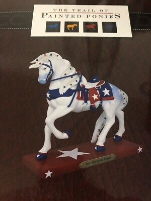 The Trail of Painted Ponies Star Spangled Rodeo Patriotic Horse Figurine NIB