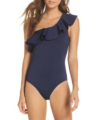 d86030bcb3 NWOT navy ruffle one shoulder swimsuit TED BAKER LONDON size 5 (14 in US)