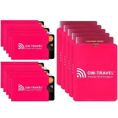 ✅ Pink Rfid Nfc Blocking Oyster Credit Debit Card Passport Id Protection Sleeve