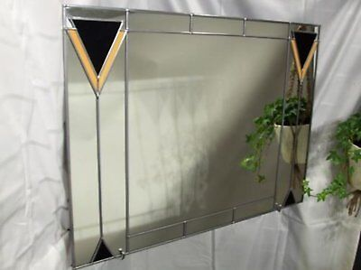 Art Deco 1 61x46cm Stained Glass effect Wall mirror Handmade in the UK