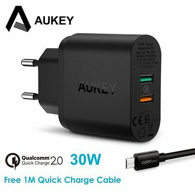 AUKEY Quick Charge 30W USB Charger Fast Mobile Phone Charger for iPhone Samsung
