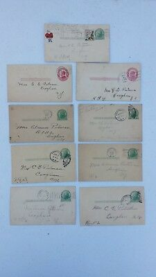 Lot of 9 Private Mailing Cards