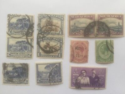 SOUTH AFRICA used stamps includes 1s Wilder beast pair+others - lot2