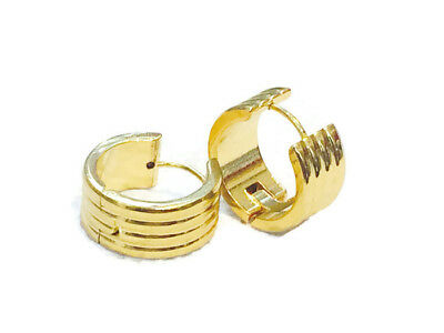 f4a034f99 Womens Small real 14k gold round statement hoop earrings thick and wide  (10mm)
