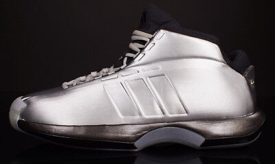 hot sale online 3d8ee 98fdb Mens ADIDAS CRAZY 1 KOBE Bryant Basketball Shoes sz 13 NEW C75736 Silver  Black