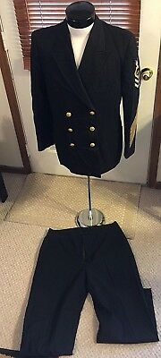 WWII Korea USN US Navy AVIATION STRUCTURAL MECHANIC Dress blues UNIFORM CPO