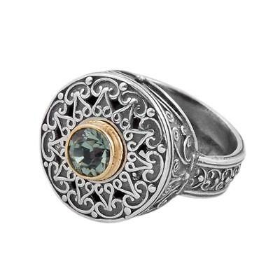 D253 ~ Sterling Silver with Gemstones Medieval Cocktail Ring