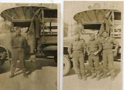 WWII SOLDIERS Vintage Real Photo Postcards RPPC Europe ? Merry Go Round Names