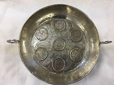 Old Pirate Silver Spanish 7 Silver Coin Bowl 1600s Reales Antique ship treasure