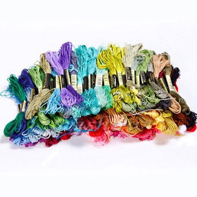 Lots Colors Cotton Cross Stitch 50 Floss Kits Embroidery Sewing Skeins Multi