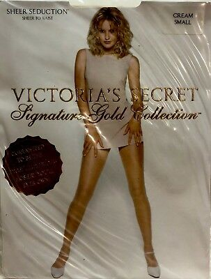 ab3e2b1689 VICTORIA S SECRET Signature Gold Collection Sheer Seduction Waist~Cream~SZ S