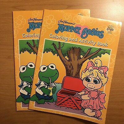 Lot: 2 NEW The Muppet Babies Coloring & Activity Book 2003 Jim Henson UNUSED