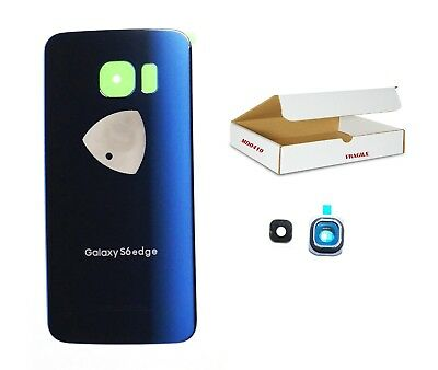 Black Sapphire Blue back glass camera lens cover replacement Fit Galaxy S6 EDGE