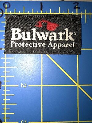 Bulwark FR Protective Apparel Logo Patch Tag Industrial Flame Fire Resistant