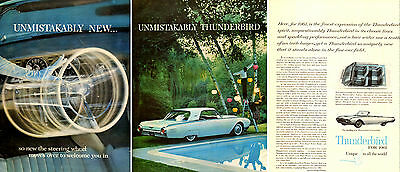 1960 Classic Car AD  new '61 Ford Thunderbird w/ movable steering wheel 031415