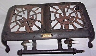 Vintage/Antique AMERICAN STOVE CO. OLYMPIA Double Cast Iron Stove Porcelain AND