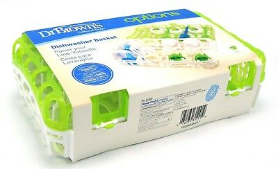 Dr. Brown's Options Dishwasher Basket for Standard Baby Bottle Parts Green/White