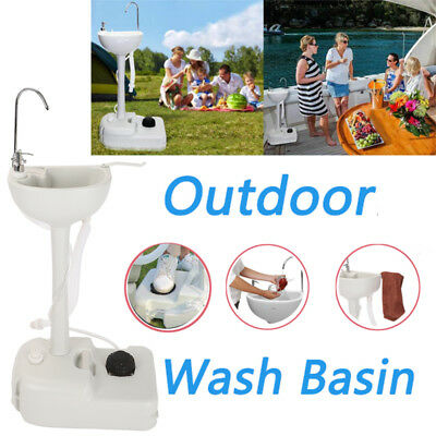 Outdoor Wash Basin Portable Sink Toilet  for Camping Travel Garden With Handles