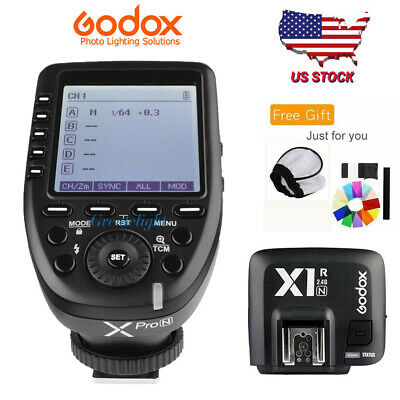 US Godox XPro-N 2.4G i-TTL Wireless Flash Trigger + X1R-N Receiver For Nikon