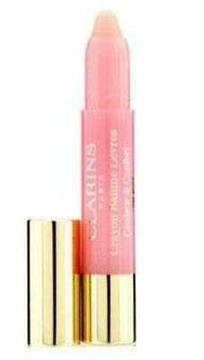 New Clarins Lip Balm Crayon Colour & Comfort - 01 my Pink 2.5g